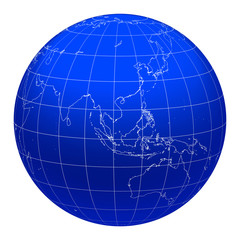 blue metallic earth