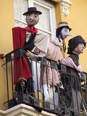 Valencia - Ninots au balcon