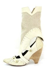 White high heel cowgirl shoes