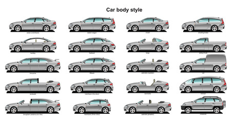 Papiers peints Cartoon voitures Car body style.