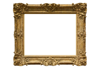 Golden classic picture frame
