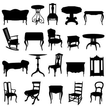 antique furnitures set