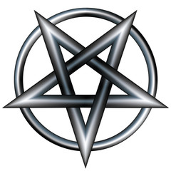 Stainless steel pentagram
