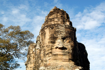 Faces of Angkor Thom, Cambodia