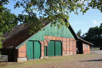 Scheune auf einem Bauernhof in Niedersachsen