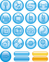 Media and communication icon set (Vector)