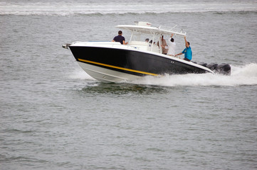 Small Outboard Powered Sport Fishing Boat