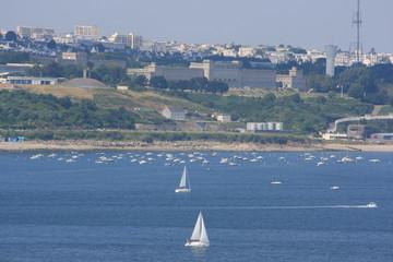 Brest vue de la Pointe des Espagnols (Bretagne, Finistère)
