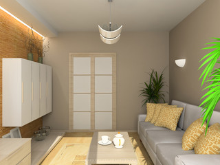 Interior of living-room