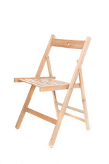 simply wood chair isolated in white