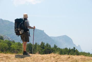 Hiker on a peak