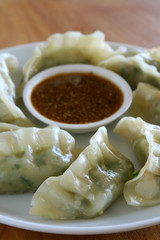 Steamed Vegetable Goyza (Pot stickers)
