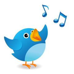 Twitter bird singing