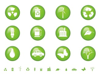 Environmental glossy buttons