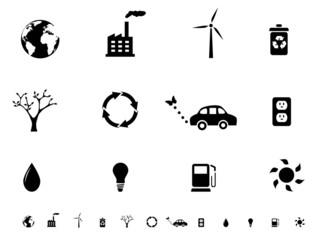 Eco friendly icon set
