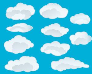 Printed roller blinds Heaven clouds set
