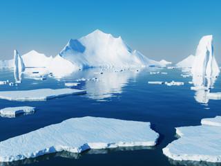 Foto auf Acrylglas Pole Icebergs
