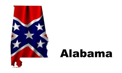 Alabama Battle Flag as the territory Map