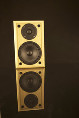 Speaker with reflection