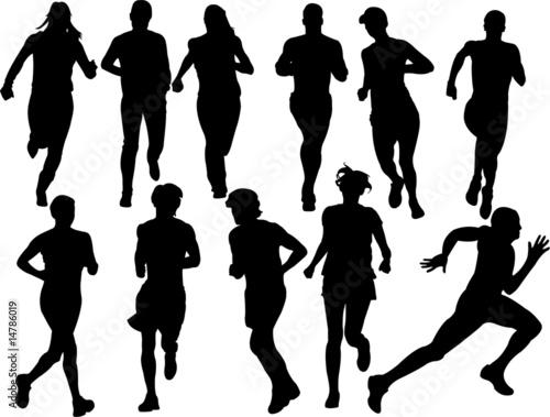 """people Running Vector"" Imagens E Vetores De Stock Royalty"