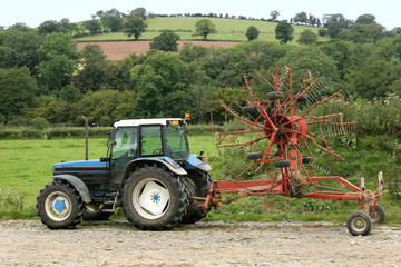 Tractor and Swather