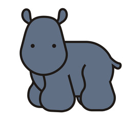 Baby cute hippo, baby animal friend