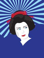 Japanische Maiko - Lernende Geisha