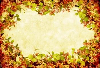 Grunge Floral Wreath