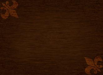 Wood Grain with Fleur Delis