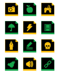 black icon set 3