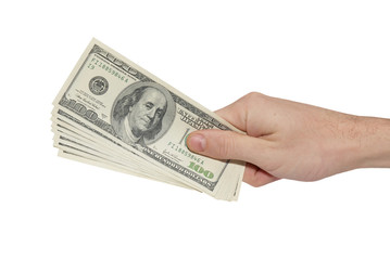 Hand with american dollars