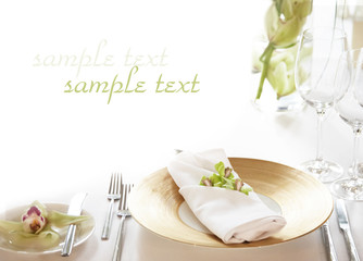 table setting background