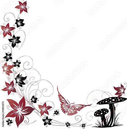 rot schwarze blumen ranke floral stockfotos und lizenzfreie vektoren auf bild. Black Bedroom Furniture Sets. Home Design Ideas