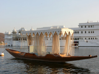 Small boat in Udaipur, India