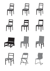 Silhouette of chairs