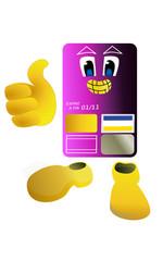 Carte bancaire violette
