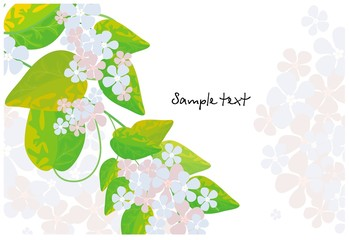 Background with simple flowers