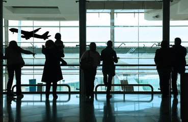 Poster Aeroport people in the airport