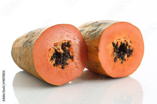 papaya halbierte frucht und samen nahaufnahme stockfotos und lizenzfreie bilder auf fotolia. Black Bedroom Furniture Sets. Home Design Ideas