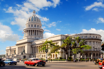 Canvas Prints Havana Capitolio building in Havana Cuba