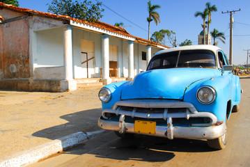 Garden Poster Cars from Cuba oldtimer car in cuba