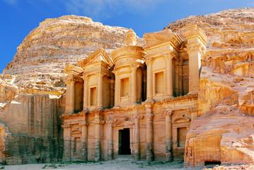 Staande foto Midden Oosten monastery petra jordan
