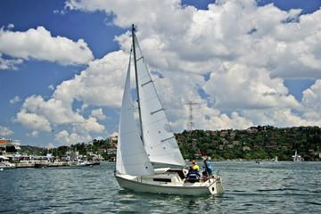 sailing boat on Bosporus, Istanbul
