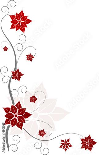 blumen ranken rot floral stockfotos und lizenzfreie vektoren auf bild 14901065. Black Bedroom Furniture Sets. Home Design Ideas