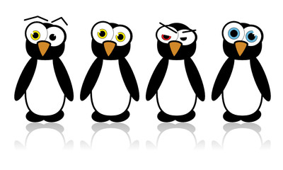 Illustrated vector pinguins