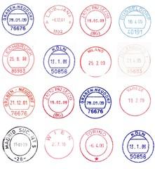 circular postmarks from western europe