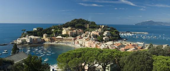 Spoed Foto op Canvas Liguria Baia del Silenzio Sestri Levante