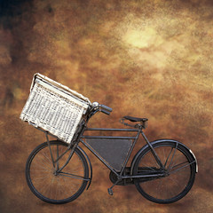 vintage bike on grunge background