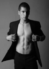 Attractive model in suite