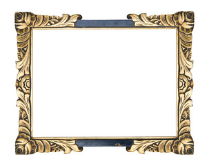 vintage picture frame, isolated , free picture space, grunge